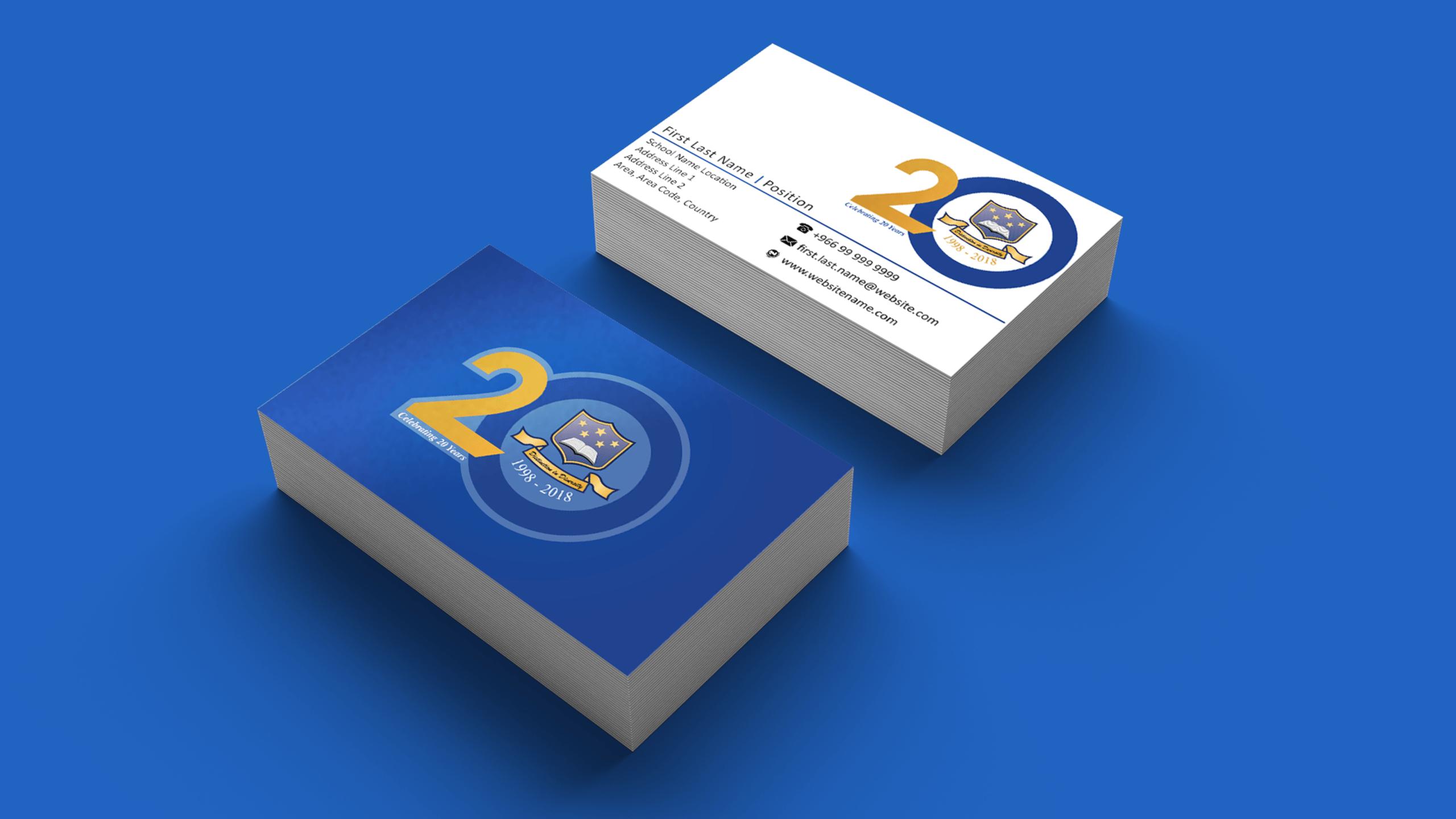 Multinational School Riyadh Business Card
