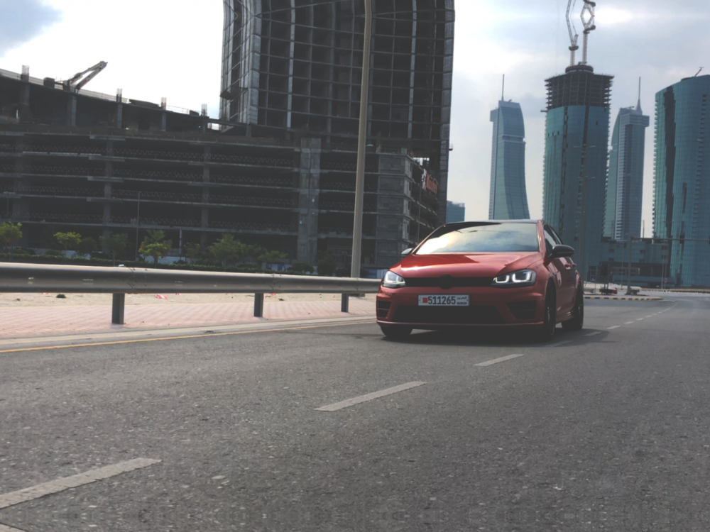 Volkswagen Golf R Bahrain Bay Photoshoot